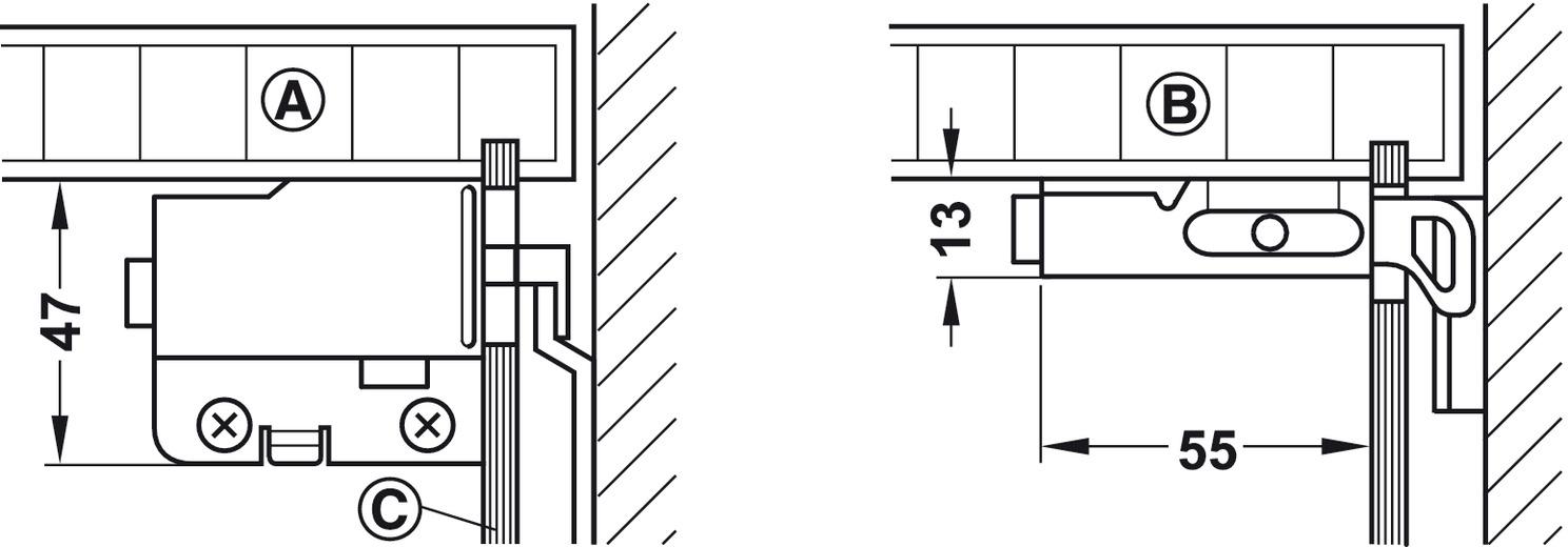 Schrankaufhänger, Oberschrank, zum Schrauben | online bei HÄFELE