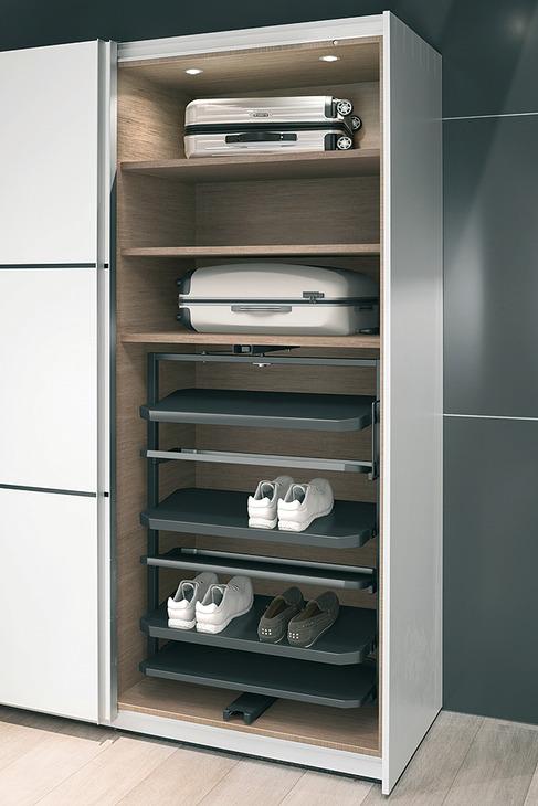 schuhschrankauszug 180 drehbar f r bis zu 20 oder 50 paar schuhe online bei h fele. Black Bedroom Furniture Sets. Home Design Ideas