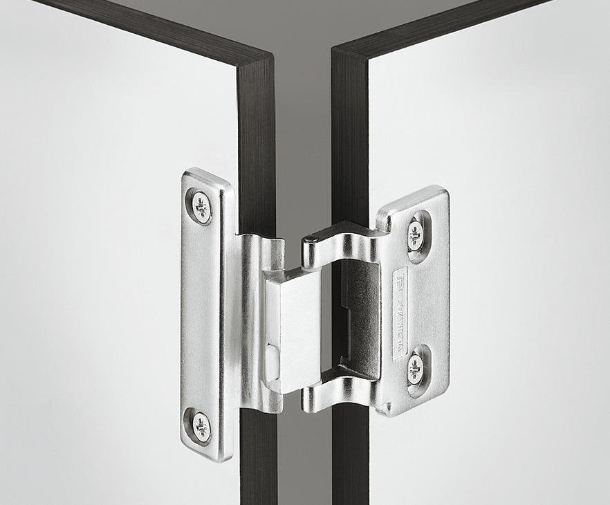 spezialscharnier f r schichtstoff t ren hpl f r mittelanschlag 6 mm fuge online bei h fele. Black Bedroom Furniture Sets. Home Design Ideas