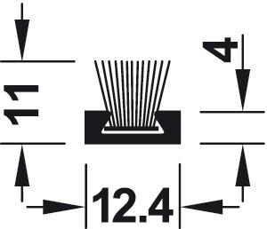 staubschutzprofil zum kleben oder schrauben l cher vorgebohrt online bei h fele. Black Bedroom Furniture Sets. Home Design Ideas