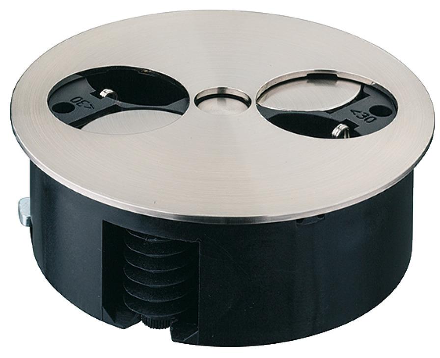 steckdosen element drehbar 2 fach steckdose 230 v im. Black Bedroom Furniture Sets. Home Design Ideas