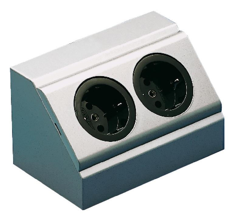 steckdosen element energiebox 2 fach steckdose 230 v. Black Bedroom Furniture Sets. Home Design Ideas
