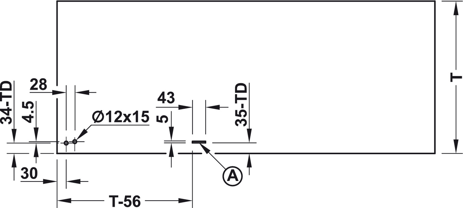 Häfele Tisch-Drehbeschlag Schwenkbeschlag Schwenkmechanik Sideboard platzsparend