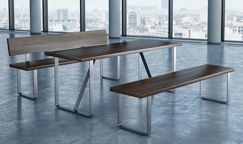 Tisch und bankkufe aus edelstahl oder stahl im h fele for Stuhl edelstahl