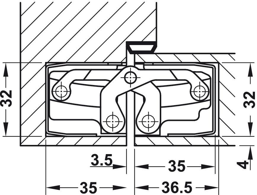 t rband simonswerk tectus te 540 3d verdeckt liegend f r ungef lzte t ren bis 120 kg online. Black Bedroom Furniture Sets. Home Design Ideas