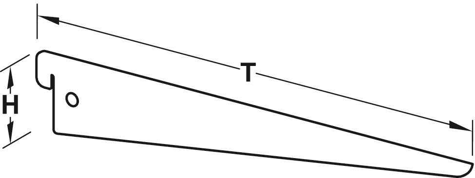 Super U-Konsole, zum Einhängen in Regal-Säulen oder -Wandschienen LM02