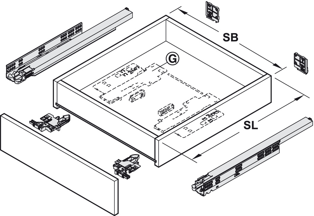 unterflurf hrung vollauszug blum movento 760 h und 766 h tragkraft bis 60 kg stahl. Black Bedroom Furniture Sets. Home Design Ideas