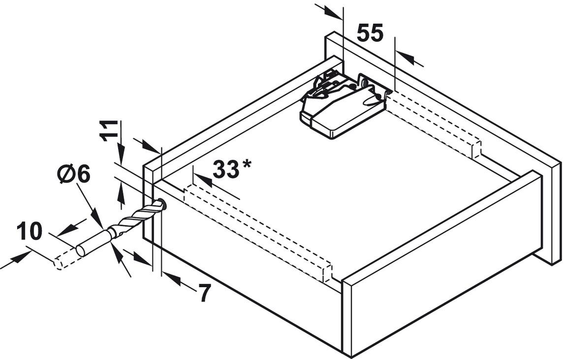 unterflurf hrung vollauszug blum tandem 560 h und 566 h tragkraft bis 50 kg stahl. Black Bedroom Furniture Sets. Home Design Ideas