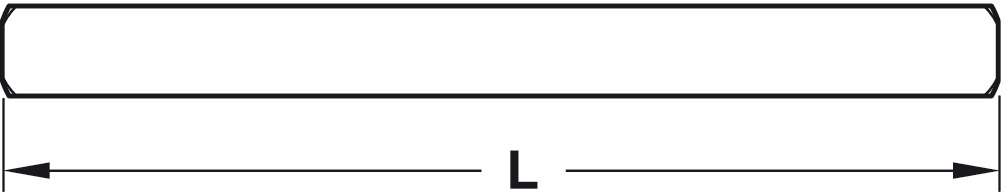 Häfele Drückerstift 8 mm Vierkantstift für Türbeschläge Drücker-Vierkant Stahl