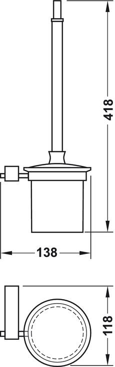 wc b rstengarnitur verchromt poliert serie eckig online bei h fele. Black Bedroom Furniture Sets. Home Design Ideas
