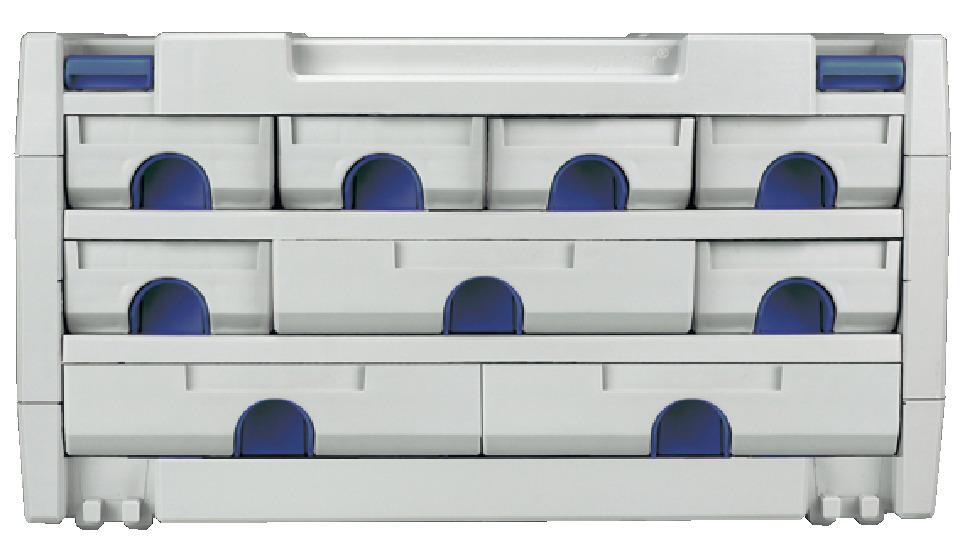 werkzeugkiste schubladen systainer mit 9 schubk sten online bei h fele. Black Bedroom Furniture Sets. Home Design Ideas