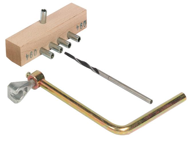 werkzeugsatz f r einbohrband anuba mit drei zapfen. Black Bedroom Furniture Sets. Home Design Ideas