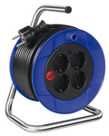 Cord reel, with 4 safety sockets product photo