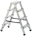 Double-sided ladder, Aluminium, height 0.8 m product photo