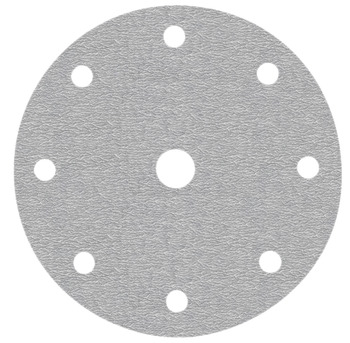 Abrasive disc, Ø 150 mm, Awuko, with Velcro and 9 holes, for lacquers