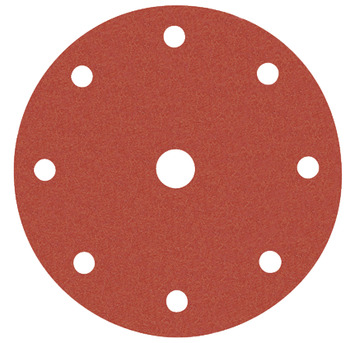 Abrasive disc, Ø 150 mm, Awuko, with Velcro and 9 holes, for wood