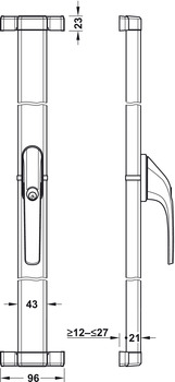 Additional lock for window handle, FOS 550 A, with Alarm Sensoric, Abus