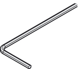 Allen key 4 mm, 4 mm, length: 160 mm