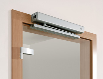 Automatic door operator, Dorma Porteo, with guide rail