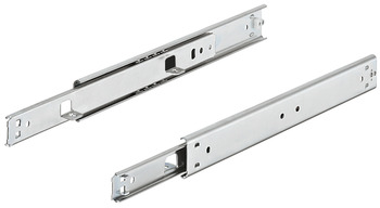 Ball bearing runners, single extension, Accuride 2002, load-bearing capacity up to 35 kg, steel, side mounting