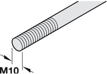 Bar, for flush bolt and door operating locking bolt