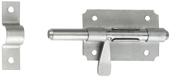 Barrel bolt, with folding lever