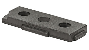 Base element, rectangular, for glide inserts 32 x 15 mm