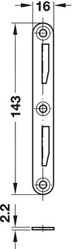 Bed connector, with hook-in part