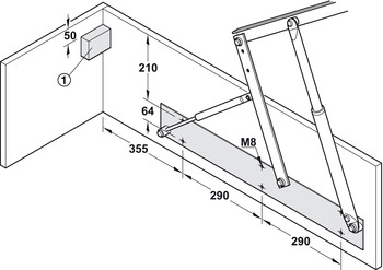 Bed lift, opening mechanism with gas-filled struts | online ... on