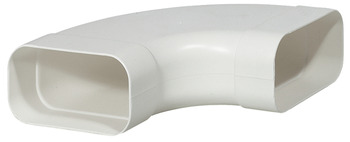 Bend connector ⓕ, 125 soft flat ducting system, 90°, horizontal
