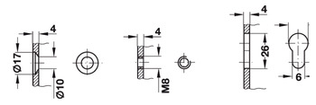 Bracket, Hebgo, for benches, load bearing capacity 500 kg per pair, fixed, steel