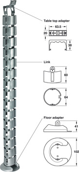 Cable guide, Link design