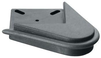 Caddy Castor set, With corner mounting plate 45°