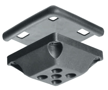 Caddy Castor set, With corner mounting plate 90°