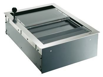 Cash drawers/trays, operate in opposite directions