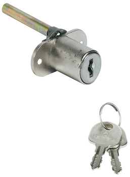 Central locking rotary cylinder lock, With fixed plate cylinder, for installation in front panel