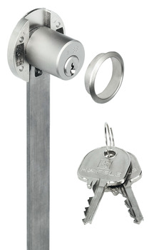 Central locking rotary cylinder lock, With pin tumbler cylinder, travel 10 mm, customised standard profile