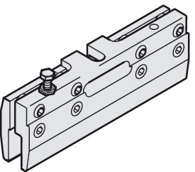 Clamp shoe, with safety lock screw M6 x 20