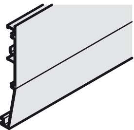 Clip panel, For glass doors, height 105 mm