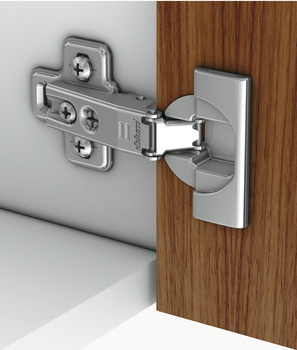 Concealed hinge, Blum module 95°, for refrigerator door applications