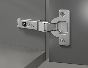 Concealed hinge, Duomatic 94°, for 30° corner applications, half overlay