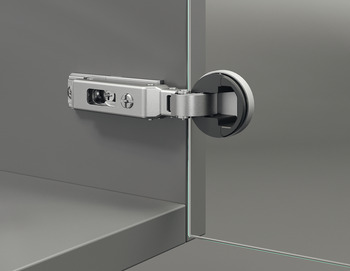 Concealed hinge, Duomatic 94°, half overlay/twin mounting