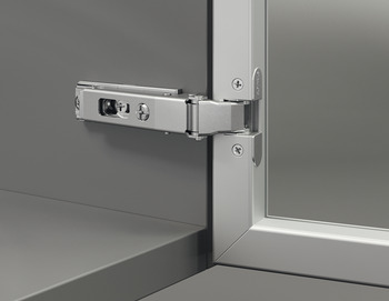 Concealed hinge, Duomatic Push 105°, full overlay mounting