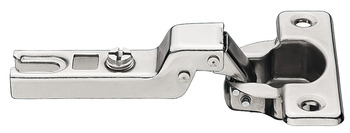 Concealed hinge, Steel, nickel plated, Mini A, half overlay mounting