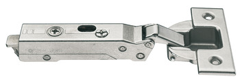 Concealed hinge, Tiomos 120°, overlay, for –15° corner applications
