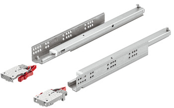 Concealed runners, Häfele Matrix Runner UM A30, full extension, load bearing capacity up to 30 kg, steel, coupling installation
