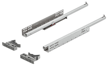 Concealed runners, Häfele Matrix Runner UM S25, single extension, load bearing capacity up to 25 kg, steel, coupling installation