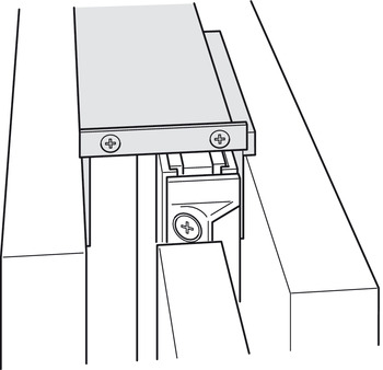 Connecting fitting, For side panel, for 1 door