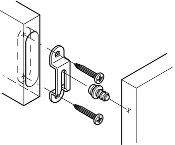 Connection fitting, Modular, for semi-permanent connections, semi-locking