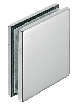 Connection patch fitting, central, Startec, for glass double action doors